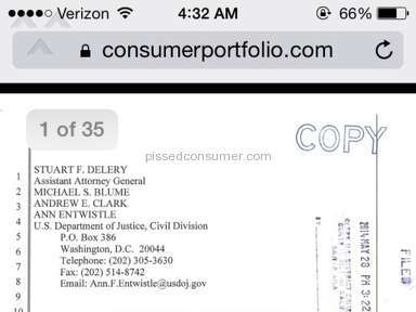 Consumer Portfolio Services - Contact Information Review