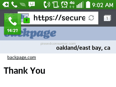 Backpage - Advertisement Review from San Leandro, California