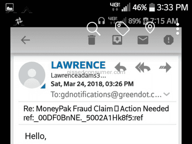 Green Dot Moneypak - Scammed by greendot