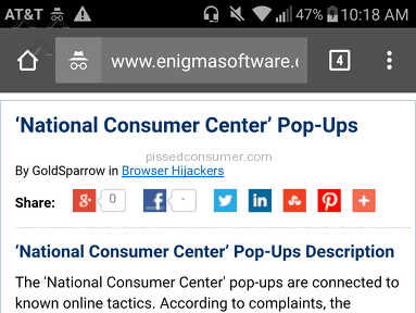 National Reward Center - National reward/consumer center is a scam!!!