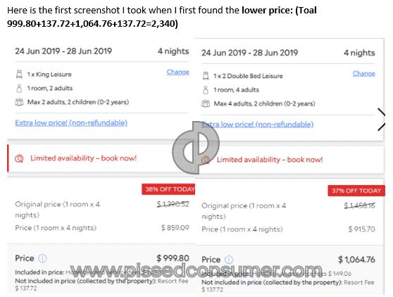 Priceline Doesn't honor its Best Price Guarantee Jun 03, 2019
