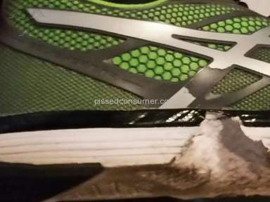 Asics poor quality with Exert-TR shoes...