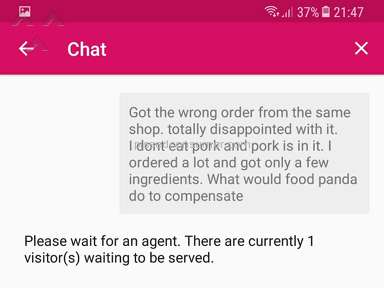 Foodpanda Singapore - Food Panda with worst customer service ever