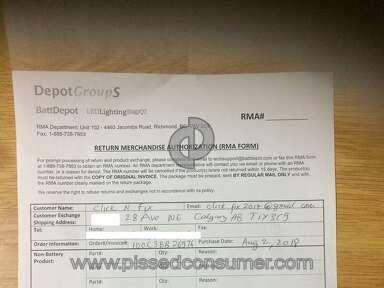 BattDepot Customer Care review 349310