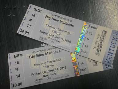 Vivid Seats - Big Blue Madness Sport Ticket Review from Reynoldsburg, Ohio