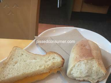 Panera Bread - Was very disappointed