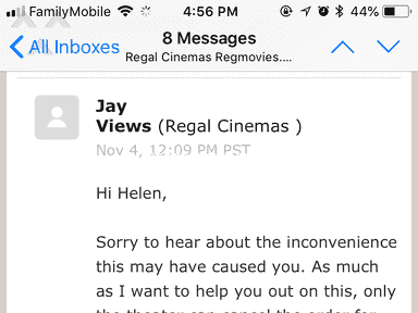Regal Cinemas - Worst customer service