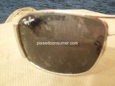 Ray Ban - Lens starting peeling