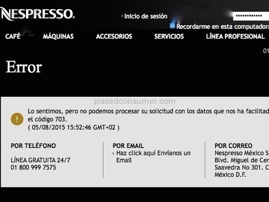 NESPRESSO FRAUD.