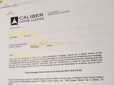 Caliber Home Loans wants 2 evict you 4 your equity w minimum notice