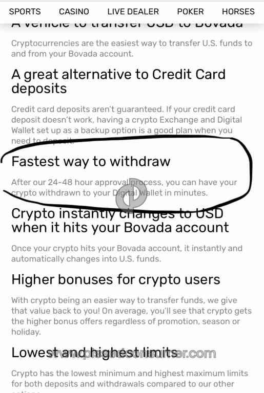 Bovada Bitcoin Withdrawal Time