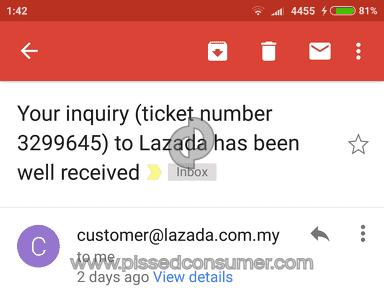 Lazada Malaysia - Lazada bad Customer Services