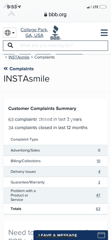 105 Instasmile Reviews And Complaints Pissed Consumer