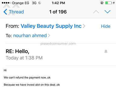 Valley Beauty Customer Care review 155498