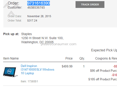 Staples - Cancelled my black Friday deal