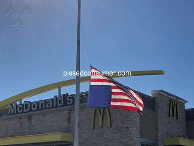 Mcdonalds - Disrepect for the American flag...
