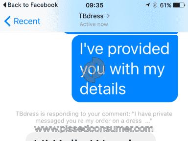Tbdress Dress review 119609