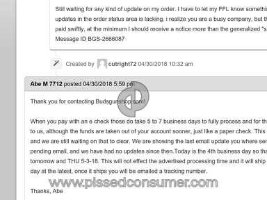 Buds Gun Shop Shipping Service review 288950