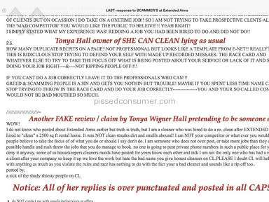 Extended Arms Provides Proof Of Slander by Tonya Wigner Hall Memphis Tn Owner of She Can Clean Green PART 1