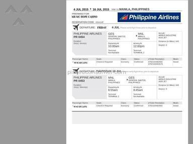 Philippine Airlines Flight review 77291