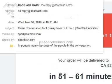 DoorDash Cancelled My Order 5-minutes Before  Expected Delivery