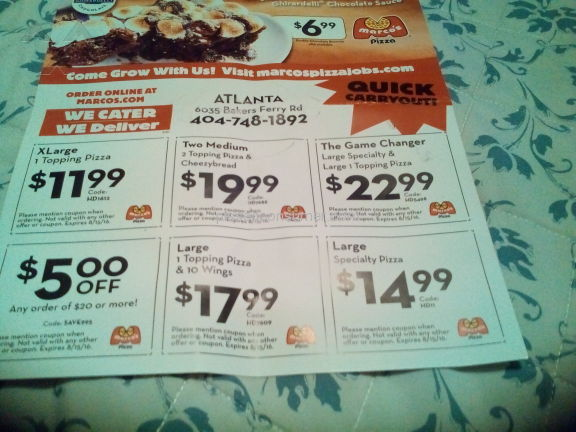 Marcos sub coupons