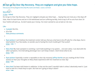 Clear Sky Recovery Hospitals, Clinics and Medical Centers review 320132