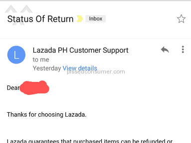 Lazada Philippines Shipping Service review 257980