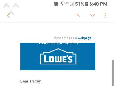 Lowes - Advertised price not honored