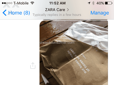 Zara Customer Care review 186924