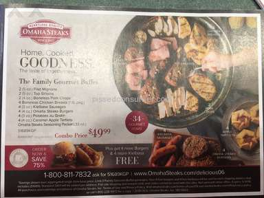 Omaha Steaks - Advertisement of non-existent special