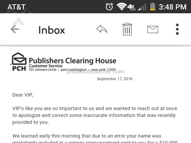 Publishers Clearing House - Simple Review #1474162786