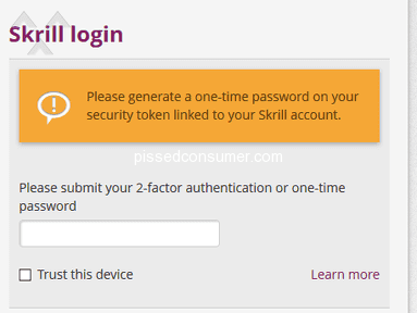 Skrill - Revoke of 2-Factor Authentication