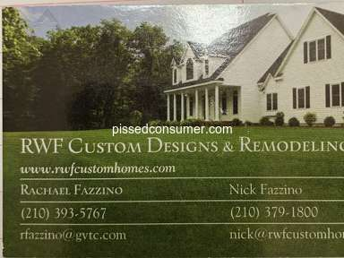 RWF Custom Designs and Remodeling Kitchen Remodeling Estimate review 357928