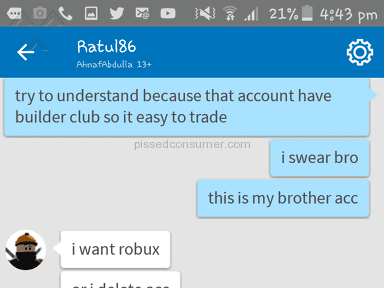 Roblox Account review 260562