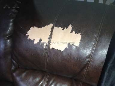 Furniture is peeling at a rapid rate and Furniture Row considers this normal?