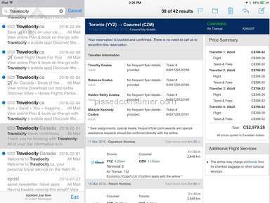 Travelocity Flight Booking review 118937