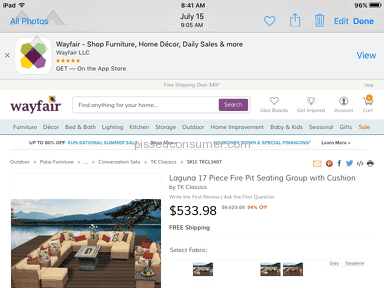 Wayfair Reneges