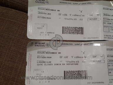 Saudi Arabian Airlines Customer Care review 126621