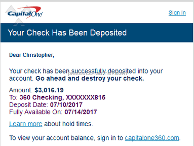 Capital One 360 - Just opened an account, already regretting it.