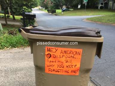 American Disposal Services - Treated very poorly