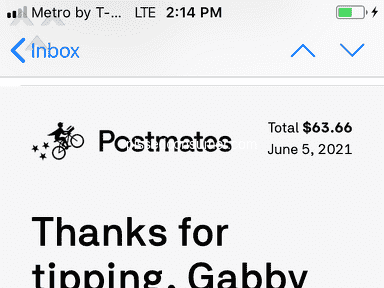 Postmates Food Delivery review 1032469