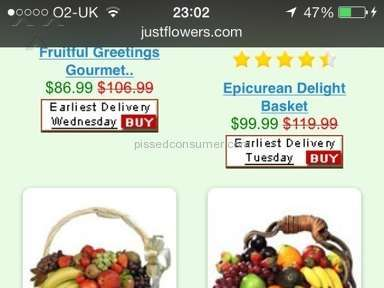 Justflowers - Ordered fruit basket from just flowers