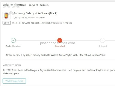 Paytm Appliances and Electronics review 86869