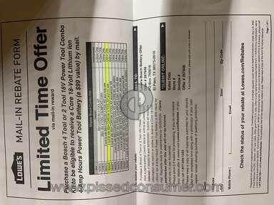 Lowes Rebate review 490179