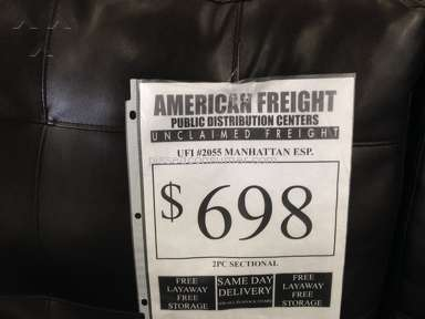 American Freight Furniture - Layaway scam