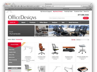 OfficeDesigns - OFFICE DESIGNS HUMANSCALE FALSE ADVERTISING