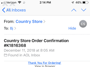 Country Store Catalog - Order