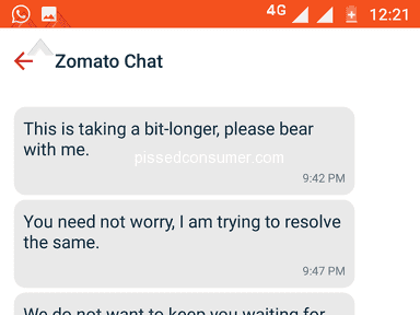 Zomato Delivery Service review 301694
