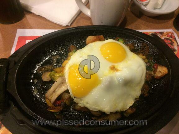 Dennys Restaurant Ultimate Skillet Combo Meal